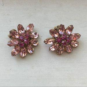 Vintage Weiss crystal earrings c 1950's